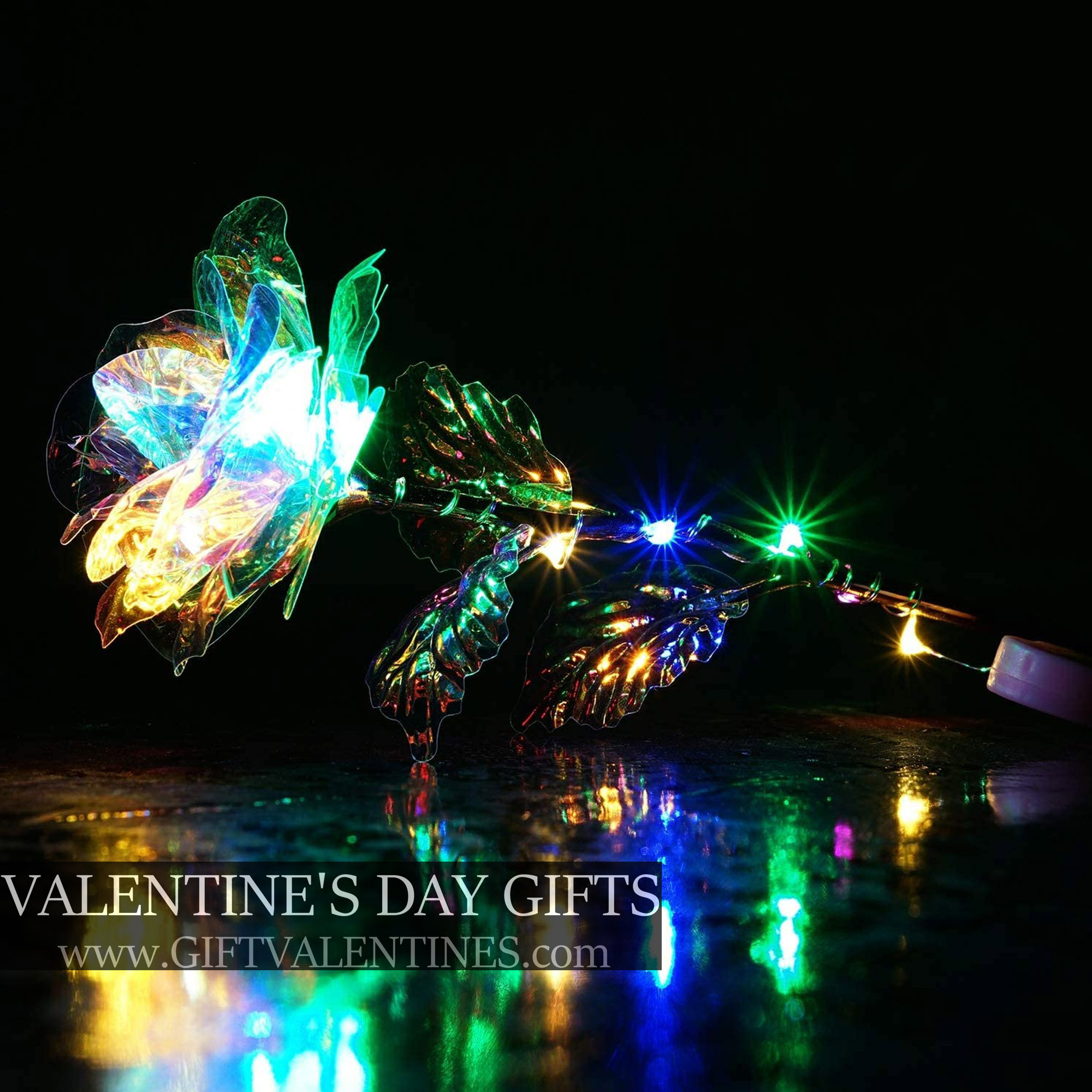 24K Forever Galaxy Rose With Gift Box and LED Lights