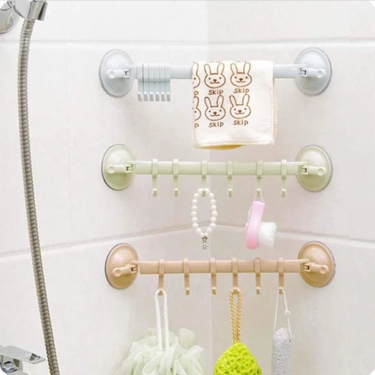 Shower & Kitchen Storage Hooks with Suction Cups, Buy 2 Get Extra 10% OFF