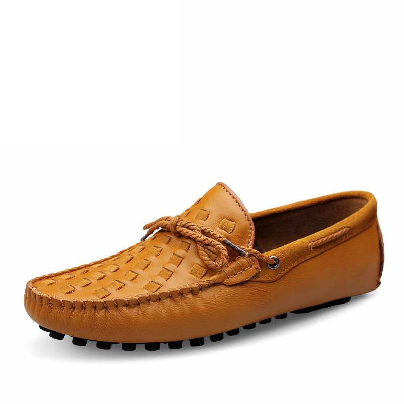 Leather Men Shoes Casual Flats Men Shoes Breathable Loafers Genuine Leather Slip Moccasins Comfortable Shoes