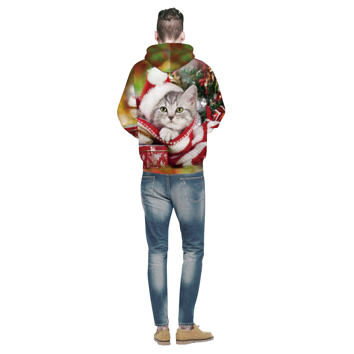 Lovely Cat Christmas Couples Hoodies