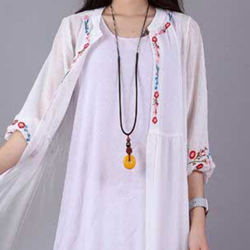 Retro Ethnic Style Long Sweater Chain Adjustable Necklace