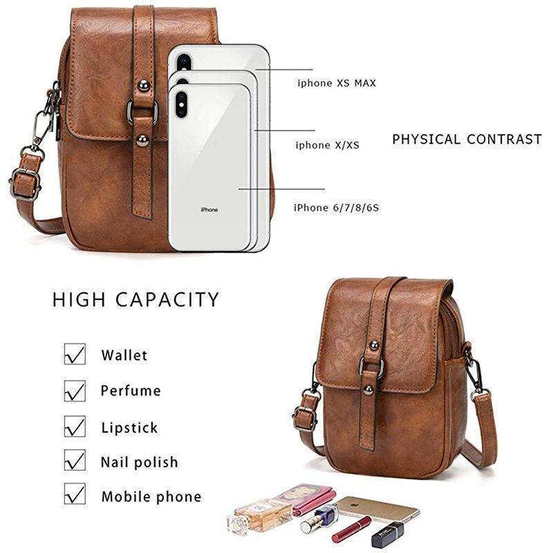 Multi-Functional Soft Leather Phone Bag -- Free Shipping
