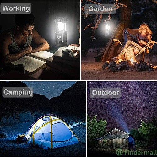 (Father's Day Hot Sale - 50% OFF) 6 in 1 Portable Outdoor LED Camping Lantern With Fan