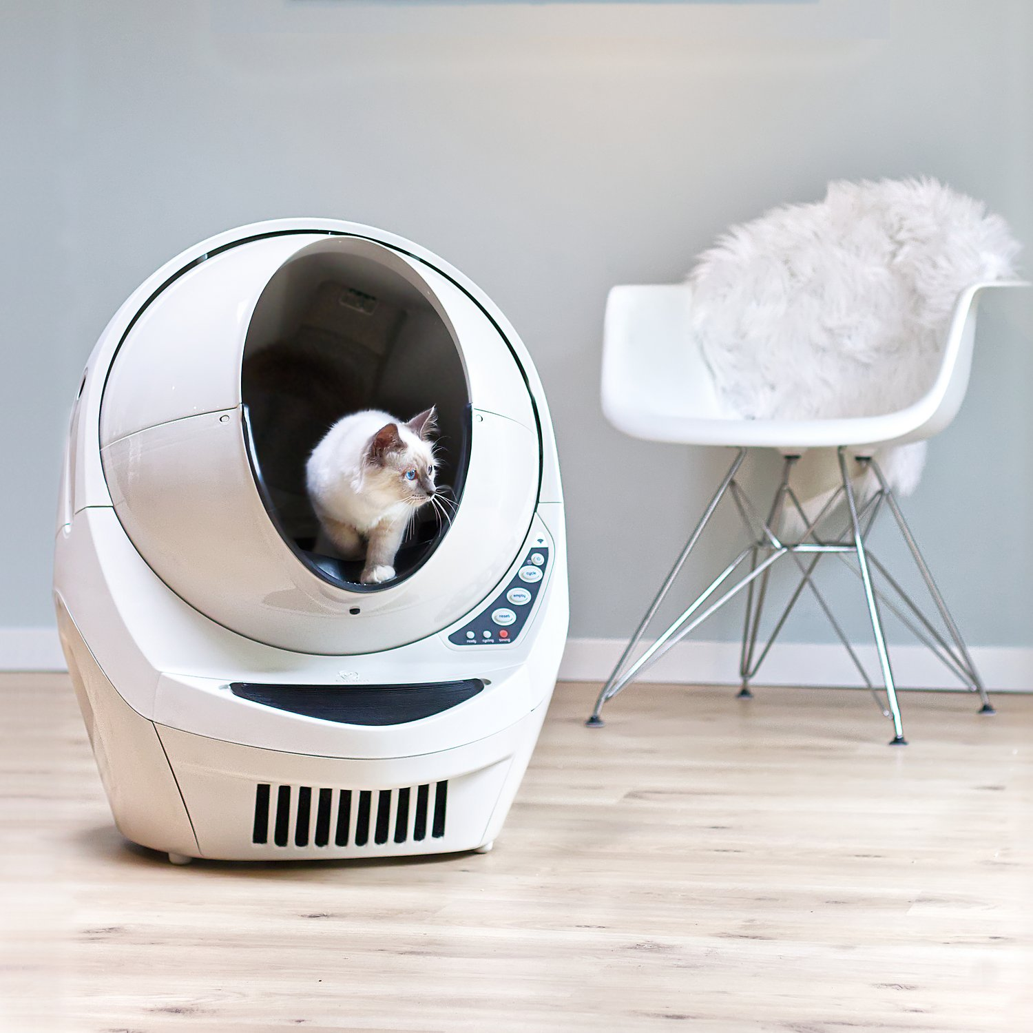 Rated WiFi-enabled Automatic Self-cleaning Litter Box for Cats