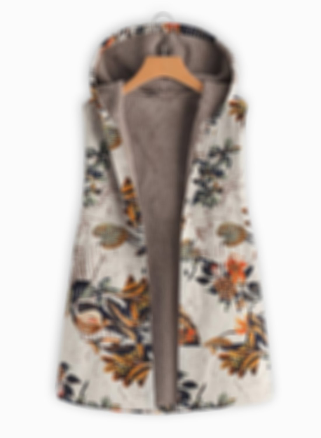 🔥 49% OFF🔥 Sleeveless Down Open Front Floral Embroidery Vest