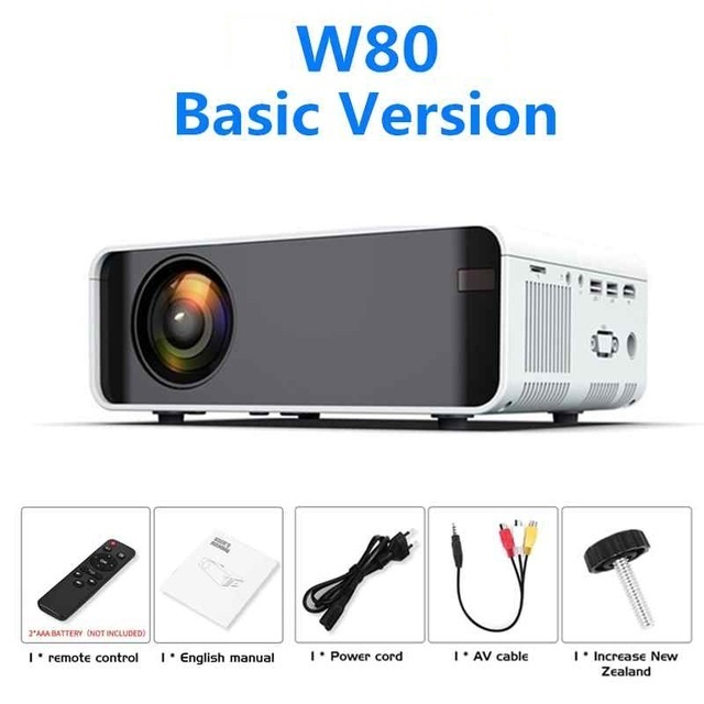 💥Anniversary Promotion 50% OFF💥W80 LED Projector Support Full HD 1080P WIFI Bluetooth Home Theater Media Player AndroidProjector