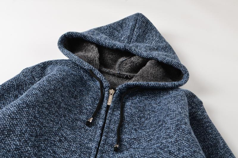 Casual knitted sports hoodie