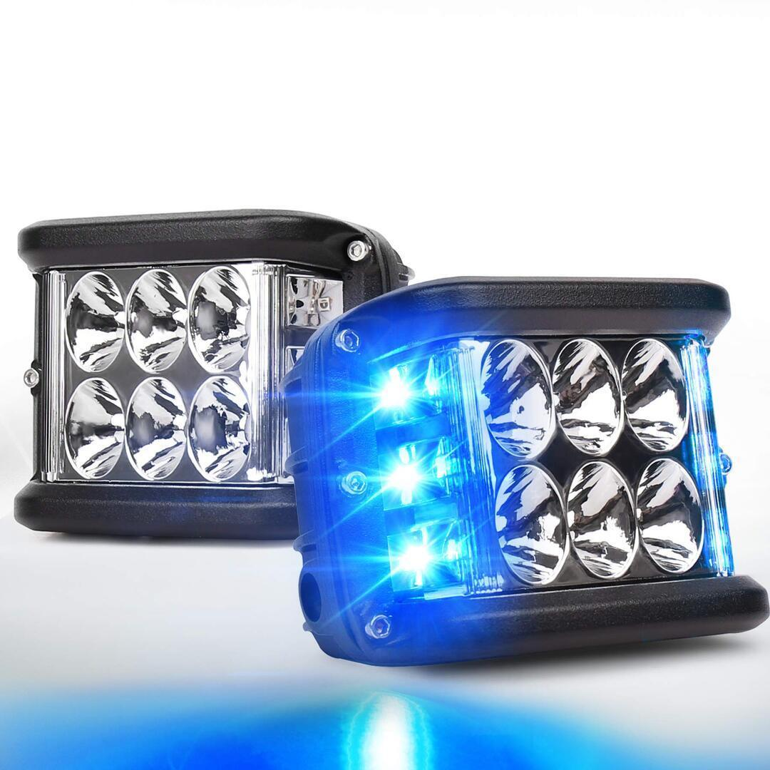 (Last Day Promotion-50% OFF) Dual Side Shooter Dual Color Strobe Cree Pods for Truck ATV Boat (BUY 2 GET FREE SHIPPING)