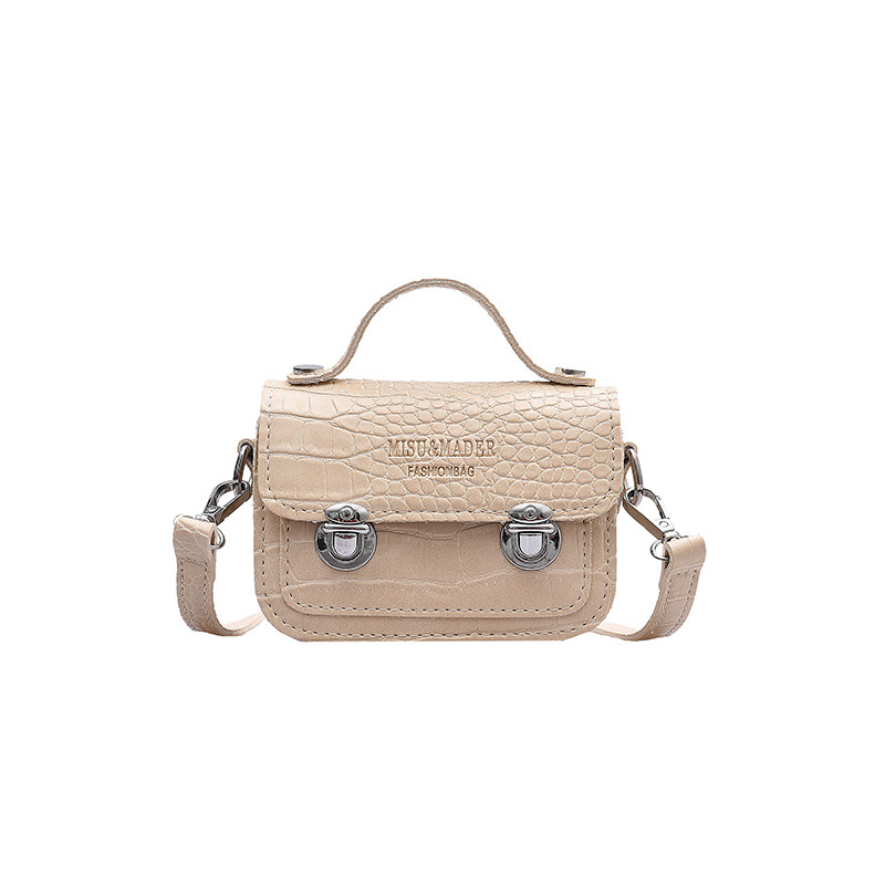 Simple Atmosphere Stone Pattern Stone Crack Personality Trend Small Bag