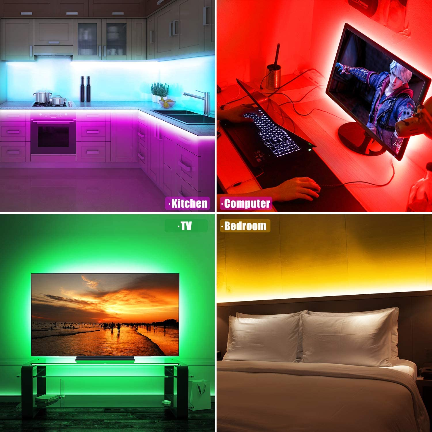 RGB LED Strip Lights (Remote Control Included) - 50% OFF TODAY ONLY!