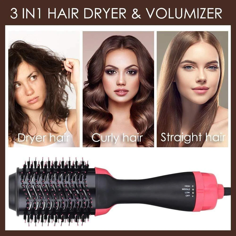 3 in 1 Hot Air Brush-One step hair dryer and styler