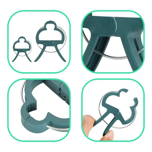 (New Year Promotion- SAVE 50% OFF) Reusable Garden Flower Lever Loop Gripper Clips