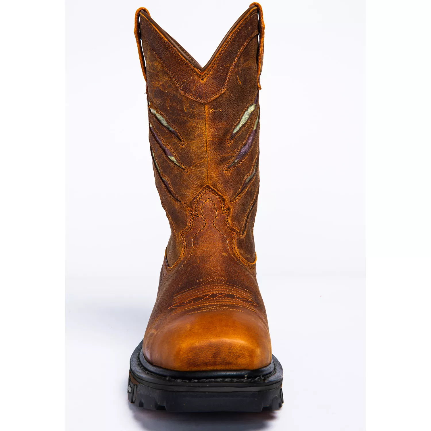 Men's Ripped Flag Western Work Boots - Composite Toe