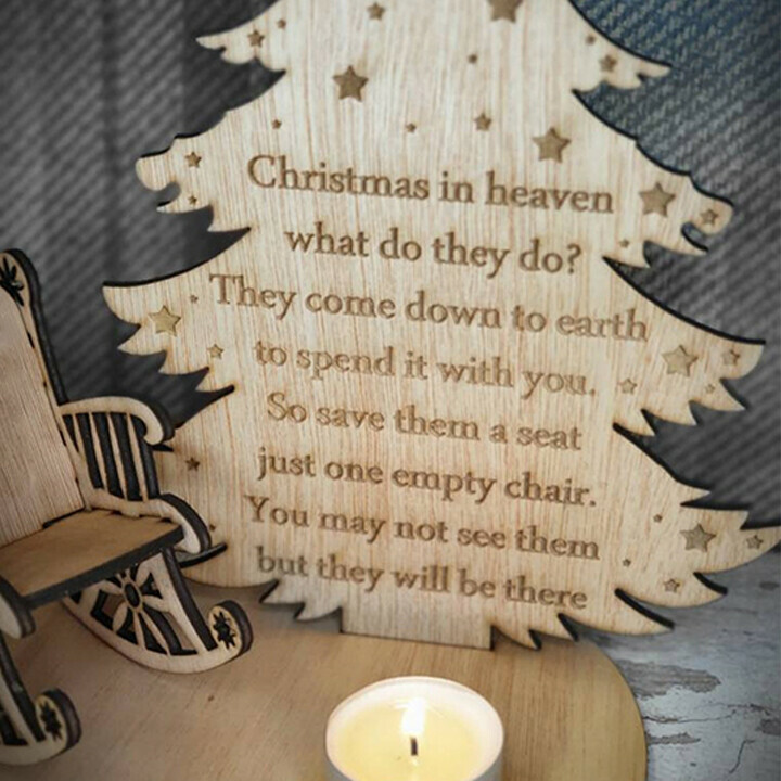 Christmas remembrance candle ornament to remember loved ones