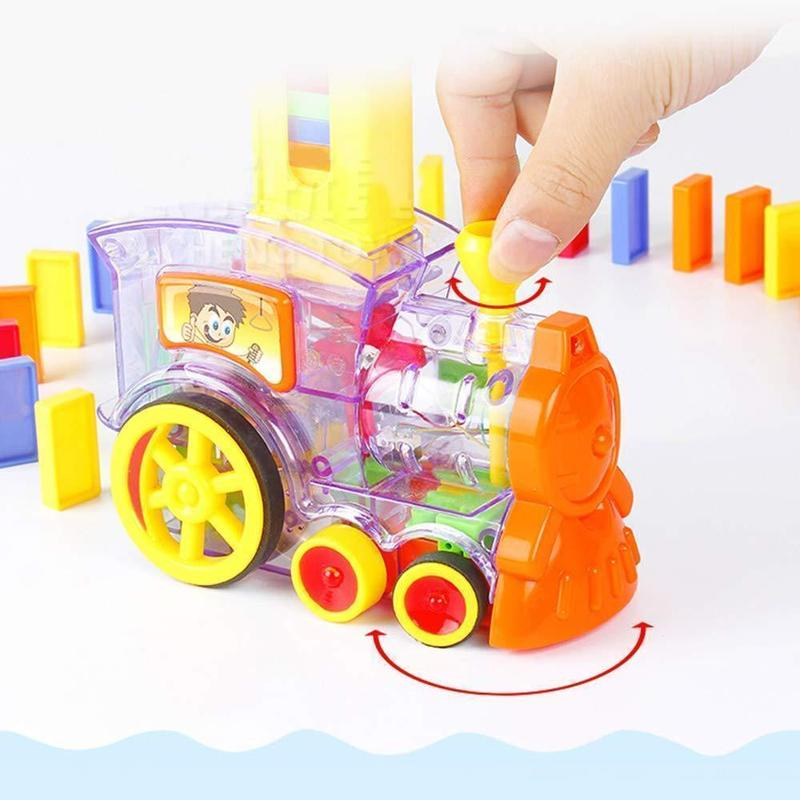 (50% OFF Time Limited Deal) Children's Educational Toys Automatically Start Dominoes Small Train - Free Shipping & Free Reurn