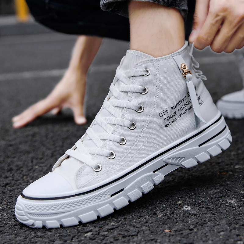 2021 summer high-top canvas shoes