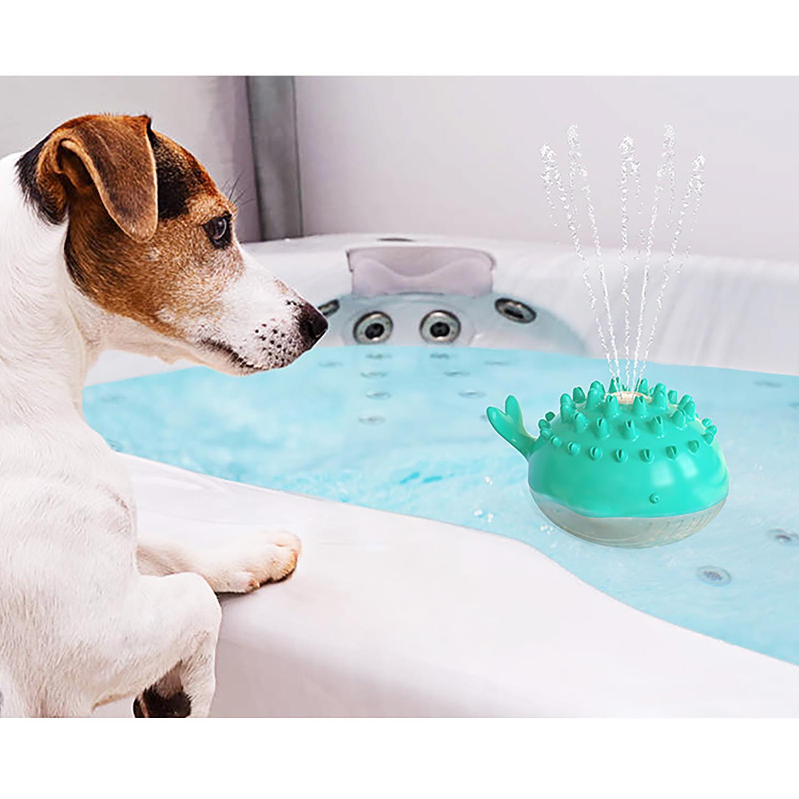 Electric water spray puppy toy