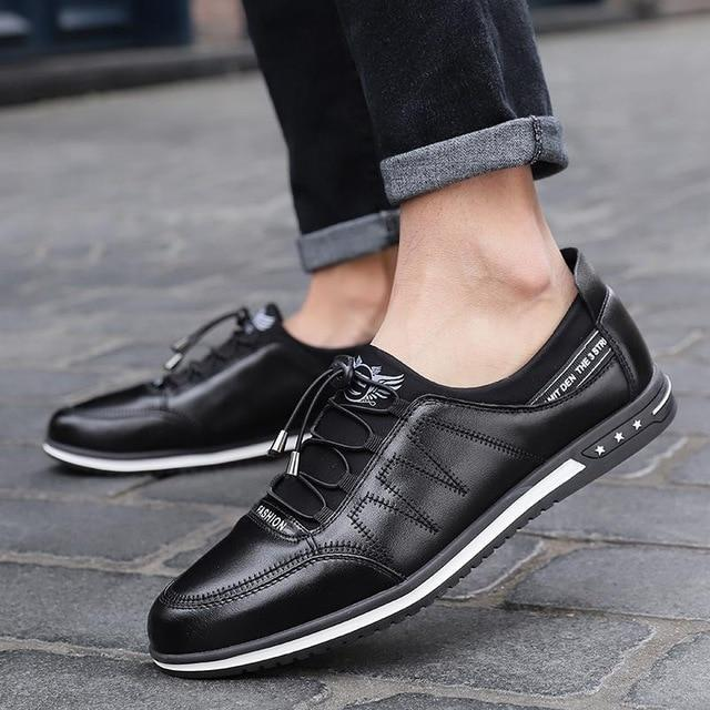 Tredfashions High Quality Breathable Leather Men's Shoes 2019!