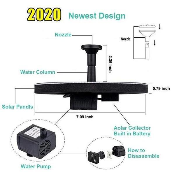 (BUY 3 GET 1 FREE)Solar Powered Water Fountain