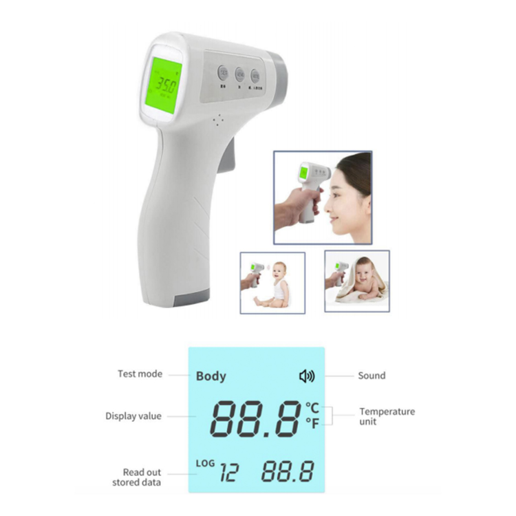 NO CONTACT LCD INFRARED FOREHEAD THERMOMETER