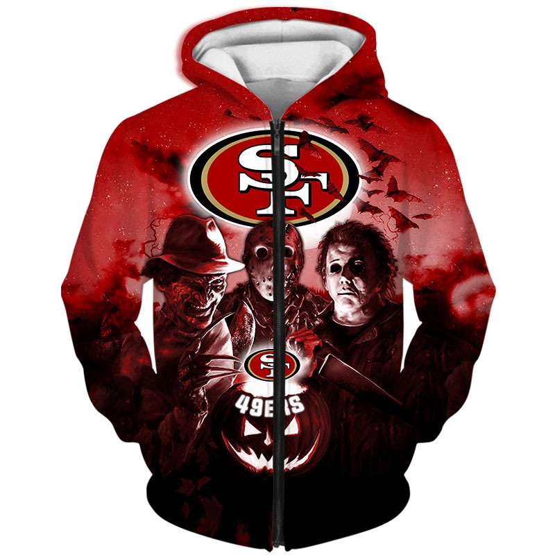 San Francisco 49ers Hoodie 3D Halloween Horror night gift for fans