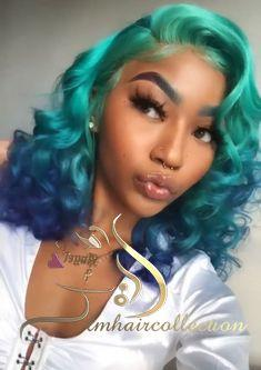 Green Wigs Lace Front Wigs Virgin Hair For Black Women Wigs Salt And Pepper Color Mirkin Wig Loose Wave Wig Dr30 Wig Color Free Shipping