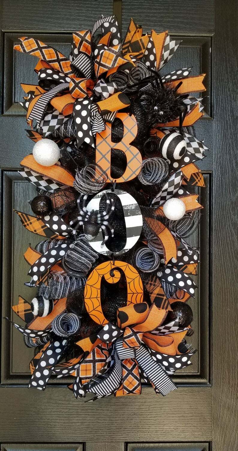 Halloween Swag Wreath Fall Wreath(On sale last day, stock is limited)