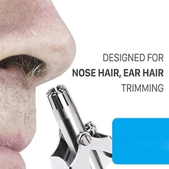 (🔥Clearance Sale - 50% OFF) Safe Touch Stainless Steel Nose Hair Trimmer