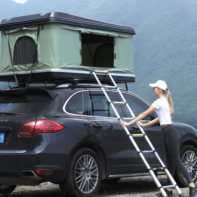 Travel Roof Bed Outdoor Hard Shell Car Roof Tent&Tent Necessary Lights