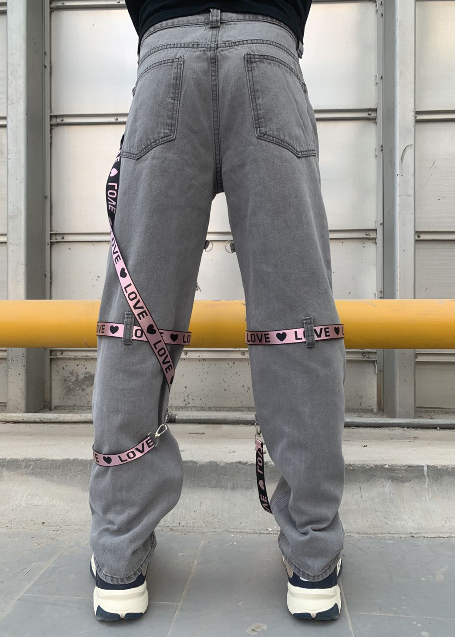 Locked And Loaded Jeans-belt And Stone-gray And Pink