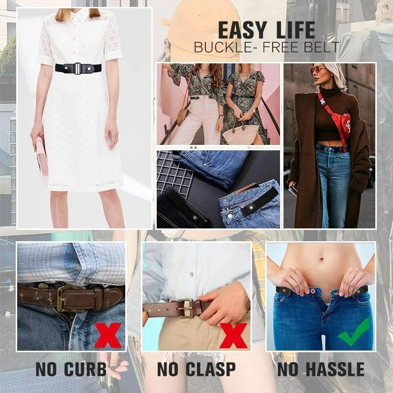 ⛄Spring Hot Sale 50% OFF⛄Buckle-free Invisible Elastic Waist Belts - ⚡Buy 4Get Extra 20% OFF
