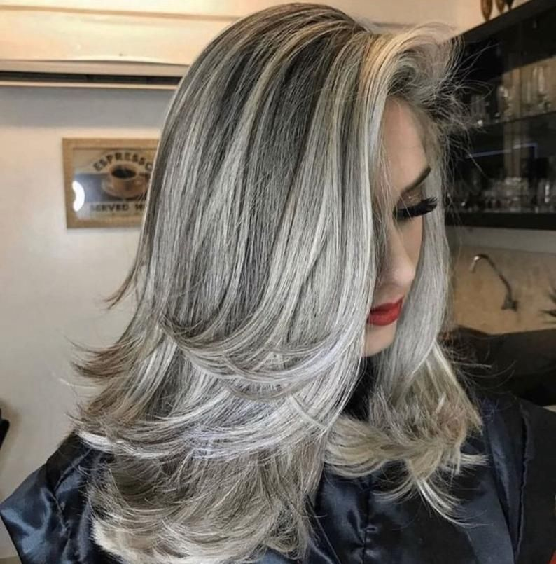 2020 Best Lace Front Wigs Mixed Gray Lace Front Wigs Gray And Blue Hair Blonde Wigs For White Women Teal Ponytail Wig
