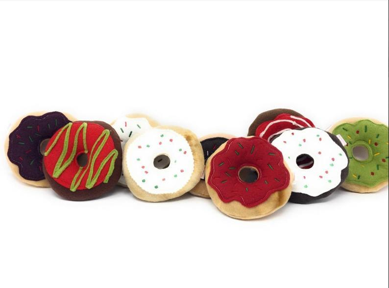 Christmas Dog Toy   Donut Toy   Dog Gift   Squeaky Dog Toy   Puppy Toy   Squeaky Dog Toy   Holiday Dog Toy   Stocking Stuffer