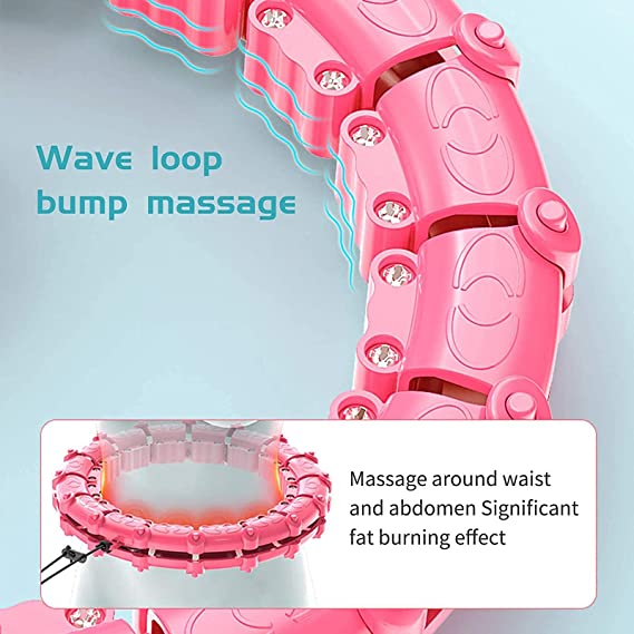 【50% OFF】Smart Weighted Hula Hoop--24 Sections Detachable & Size Adjustable Fitness Hoola Hoop for Weight Loss,
