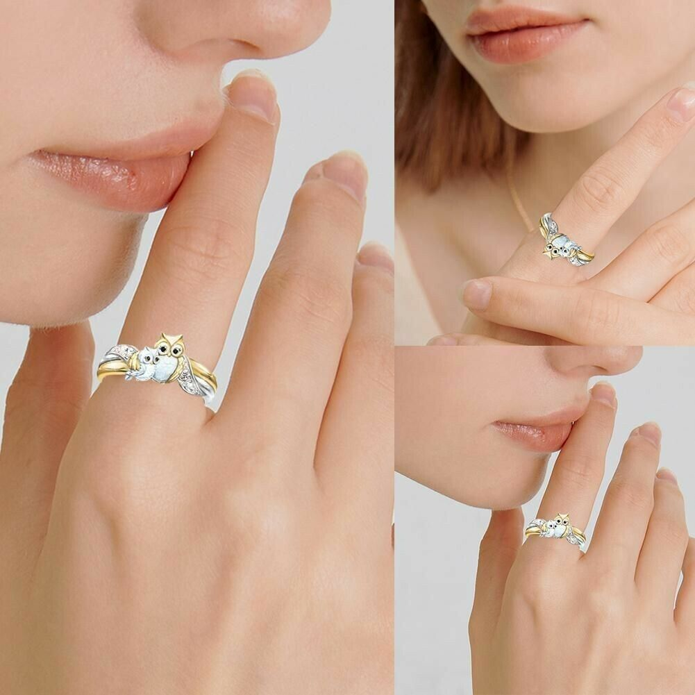 Cute Owl Crystal Ring/Necklace/Earring series