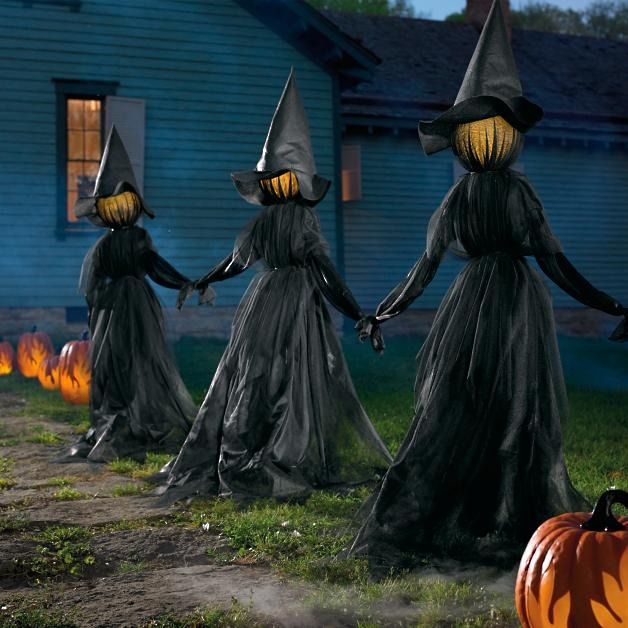 🔥Hot Sale Now-50% OFF🔥Lighted Halloween Witch Stake / Ghost Stake - Garden Decor
