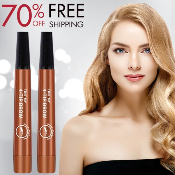 (Last Day Promotion & 47% OFF) LineBrow Ultra-Fine 4-Tip-Head Long-Lasting Waterproof Microblading Natural Eyebrow Pen