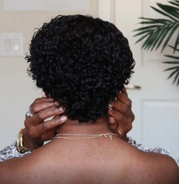 Short Curly Pixie Cut Bob   No work Needed Lace WIG