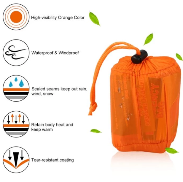【The Last Day】【50% OFF】【ONLY $9.98!!!】Emergency Outdoor Camping Thermal Sleeping Bag