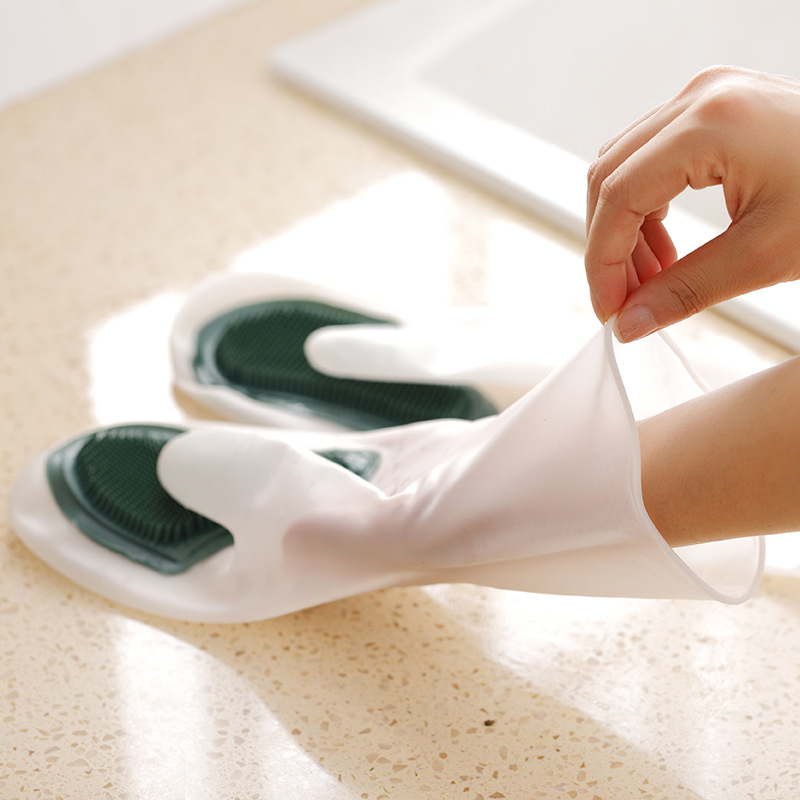 Early Christmas Hot Sale 50% OFF - Silicone Dish Washing Gloves (1 pair) - Buy FREE SHIPPING