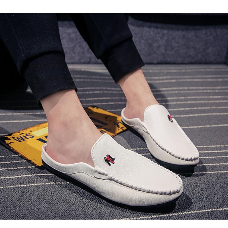 Breathable plat-heeled slipper shoes
