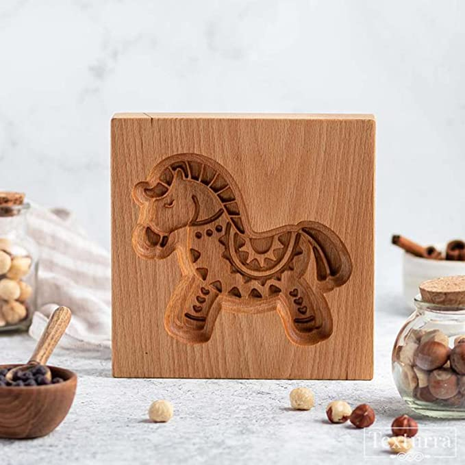✨Cookie cutter - Wooden Carved Mold For Gingerbread-🎉Buy 4 Save 20% Off