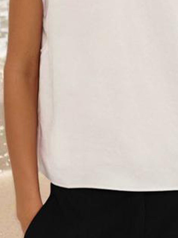 Round Neck Short-Sleeved Casual Top