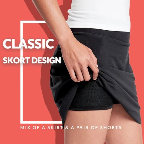 [Last Day Promotion ] Ultra-thin Breathable Workout Pleated Skirt-BUY 3 FREE SHIPPING