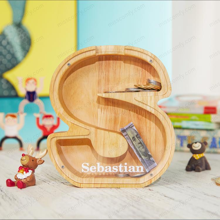 Personalized Boys/Girls Piggy Bank-Wood Gift For Kids