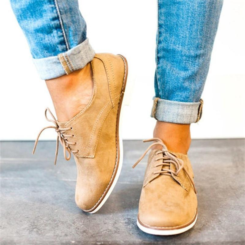 Women oxford shoes lace-up oxford shoes comfy walking