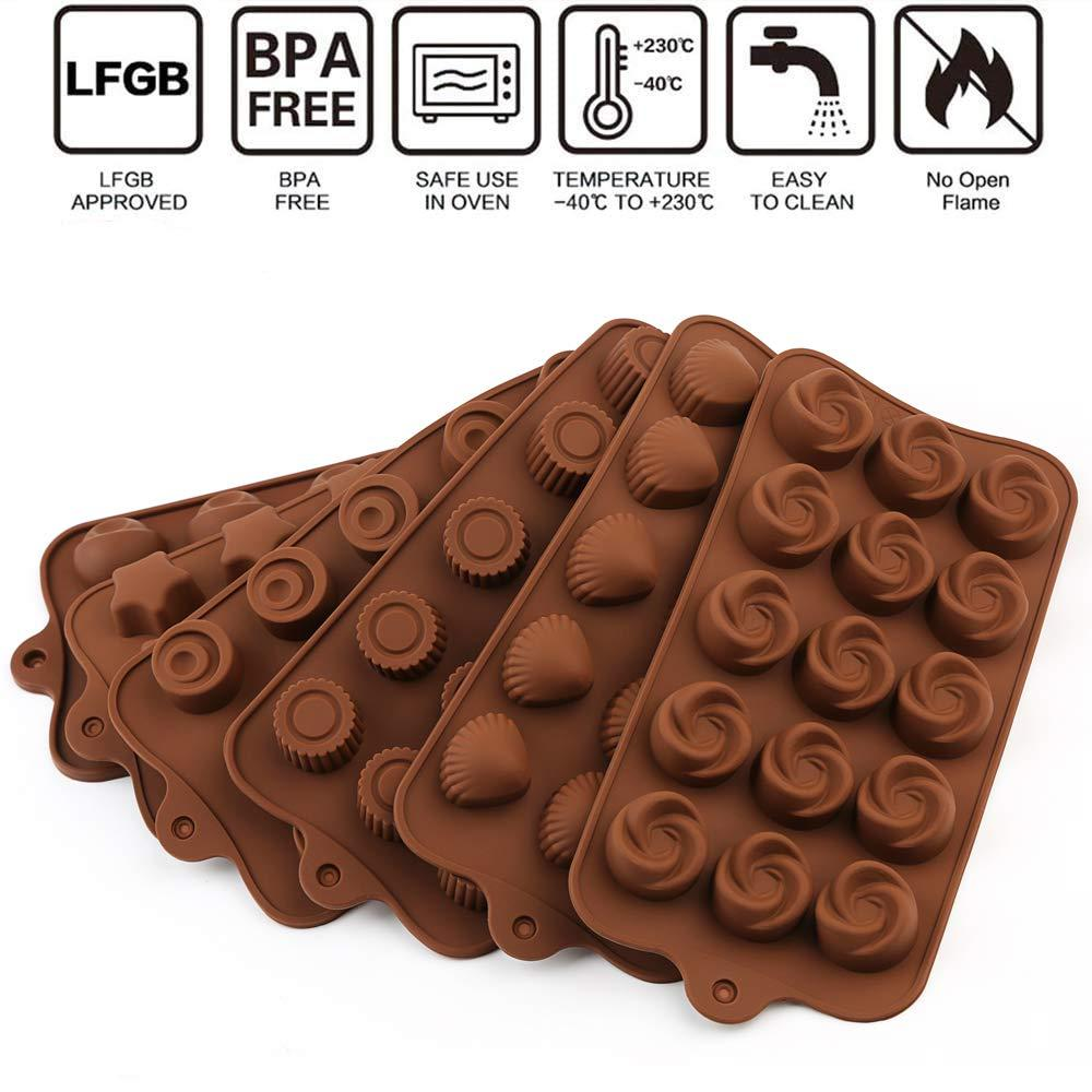 Silicone chocolate candy mold (6 chocolate set)