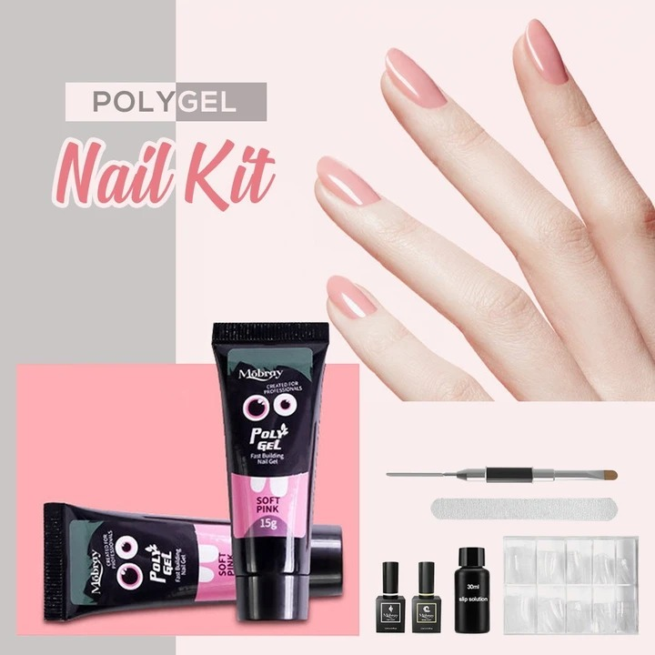 (Early Halloween Sale- Save 50% OFF)Mobray™ Easy PolyGel Nail Lengthening Kit