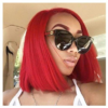 STRAIGHT SHORT BOB WIGS WITH BABY HAIR RED HUMAN HAIR LACE WIGS