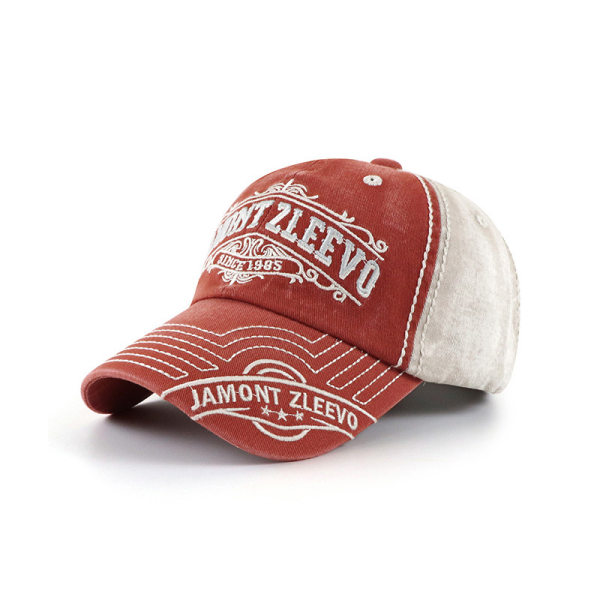 Men's Outdoor Leisure Washed Embroidered Cap